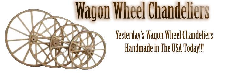 Wagon Wheel Chandeliers